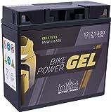 intAct Bike-Power GEL51913 | 12V 21 Ah | 300 A (EN) | Hochwertige GEL-Motorradbatterie mit 30% mehr Startleistung | Wartungsfreie GEL-Batterie
